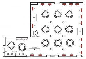 Networking Reception Layout