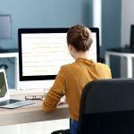 Female working in office